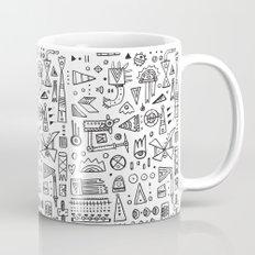Triangle doodles Mug