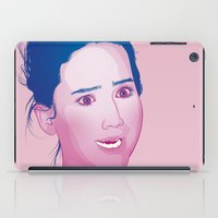 jennifer lawrence iPad Cases featuring Funny face: Jennifer Lawrence by Esther Cerga