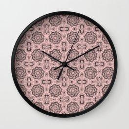 Rose Quartz Doily Floral Wall Clock