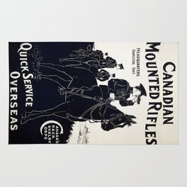 Vintage poster - Canadian Mounted Rifles Rug