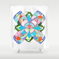 blossom Shower Curtains featuring Blossom by Heaven7
