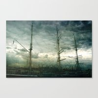 sailboat Canvas Prints featuring Sailboat by Fine2art