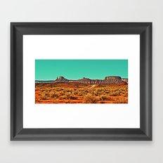 Long Road West Framed Art Print