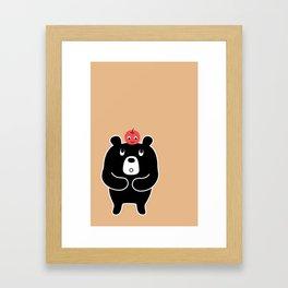 Apple Bear Framed Art Print