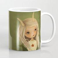 capricorn Mugs featuring Capricorn by The Midnight Rabbit