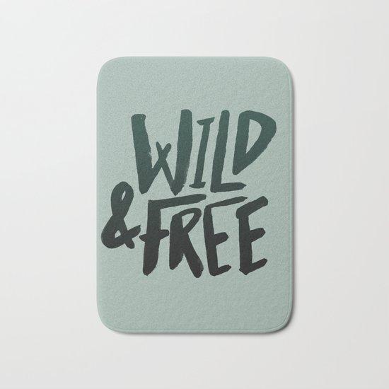Wild & Free x Olive Green Bath Mat