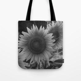 girasol (blanco y negro) Tote Bag