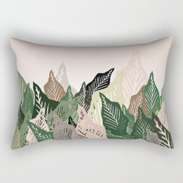 Crowded Leaves - Plant Lover Rectangular Pillow