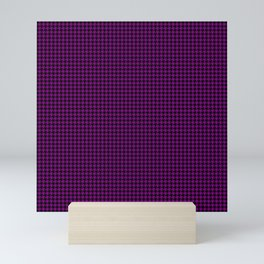 Large Zombie Purple and Black Hell Hounds Tooth Check Mini Art Print