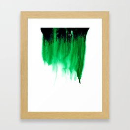 Emerald Bleed Framed Art Print