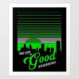 GOOD CITY Art Print