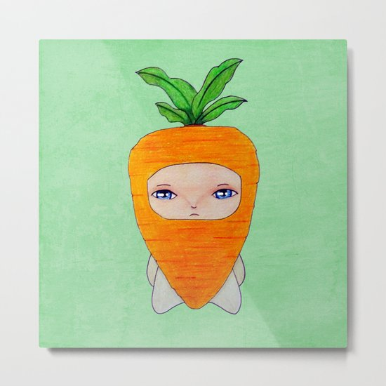 A Boy - Carrot Metal Print