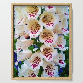 Lovely Spotted Flowers Serving Tray