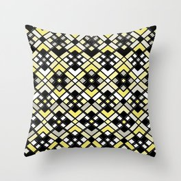 Abstract geometric pattern - gold,black and gray. Throw Pillow