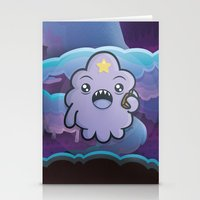 lumpy space princess Stationery Cards featuring Kawaii Lumpy Space by Squid&Pig
