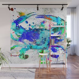 Blue Crab Wall Mural