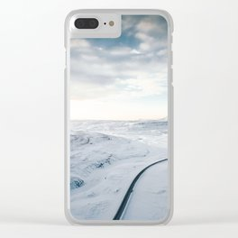 road in iceland Clear iPhone Case