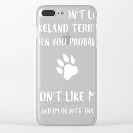 Lakeland-Terrier-tshirt,-i-like-my-Lakeland-Terrier Clear iPhone Case