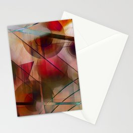 Circles Lines and Curves Stationery Cards