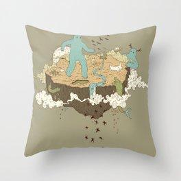 Frog Rain Throw Pillow