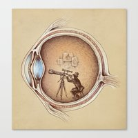card Canvas Prints featuring Extraordinary Observer by Enkel Dika