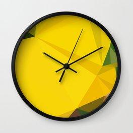 Iris yellow Wall Clock