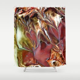 Frosted Fall Digital Manipulation Shower Curtain