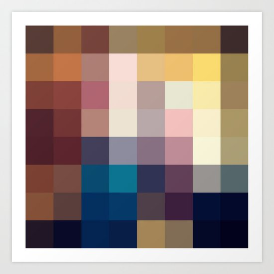 Nature Pixels No 3 Art Print