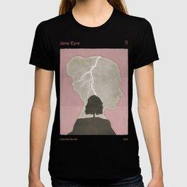 Charlotte Brontë Jane Eyre - Minimalist literary design T-shirt