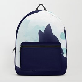 Howling wolf head and blue moon Backpack