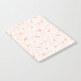 Leaves in Creamsicle Notebook
