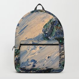 Blue flowers of the mist Backpack