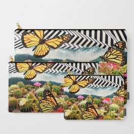 Butterflies & Cacti Carry-All Pouch