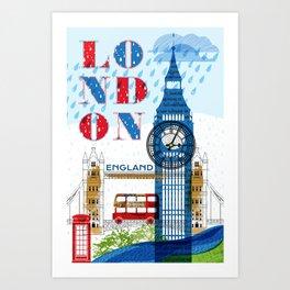 London Travel Art Print