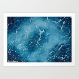 Sea Surface | Watercolor Painting Art Print