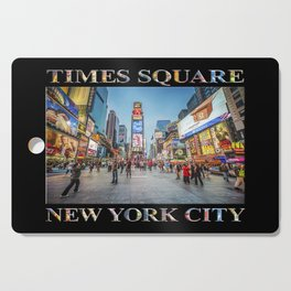Times Square Sparkle (with type on black) Cutting Board