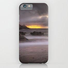 Stormy sunrise at Bracelet Bay iPhone Case