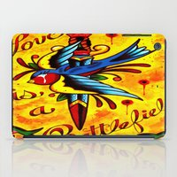 battlefield iPad Cases featuring Love Is A Battlefield by ARMADA Industries