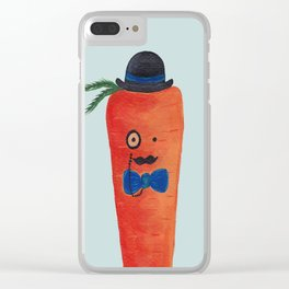 Mr. Carrot Clear iPhone Case