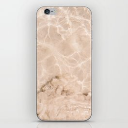 Coral Clear water | beach fine art photography | sea wave and sand iPhone Skin