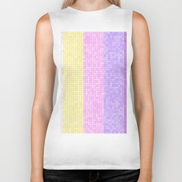Abstract Geometric tiles with Unicorn Colors Biker Tank