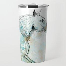 Horse (Lusitano Blue) Travel Mug
