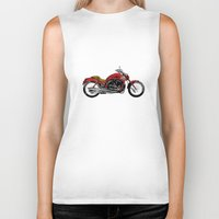 motorcycle Biker Tanks featuring Motorcycle by magnez2