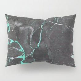 Grey and Blue Marble Pillow Sham
