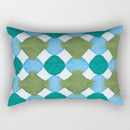 Shibori (green and blue) Rectangular Pillow