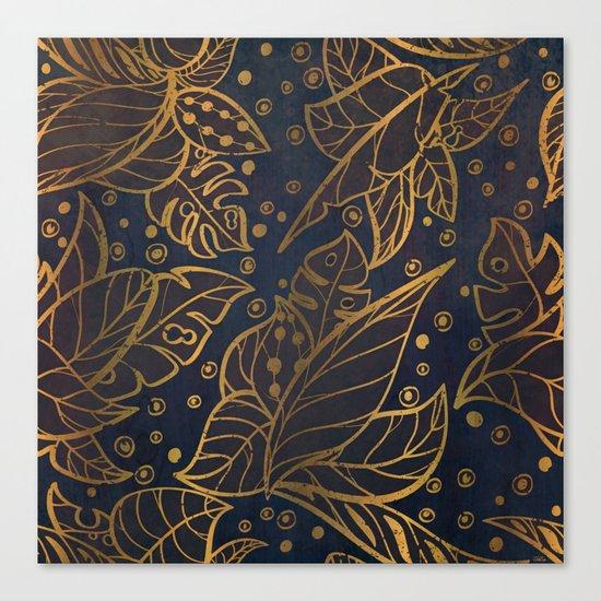 midnight jungle Canvas Print