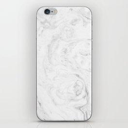 Light grey marble iPhone Skin