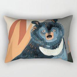 Taiga on fire #5 Rectangular Pillow