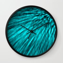 Teal Pixel Wind Wall Clock