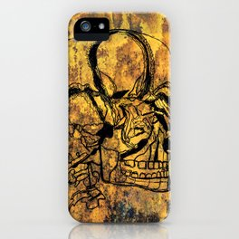 Crushed Skull Drawing iPhone Case